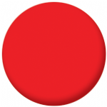 Plain Red 58mm Fridge Magnet